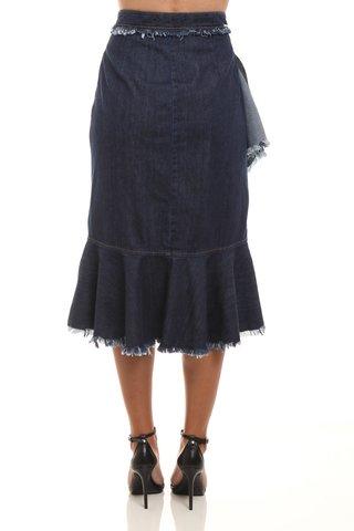 1f8cf0dc6 Saia Midi Jeans Babados - SHOP COLCCI OFICIAL