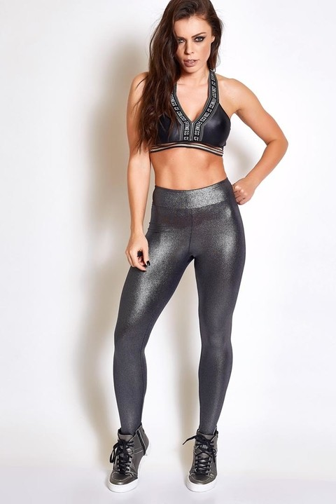 Calca Legging Metalizada