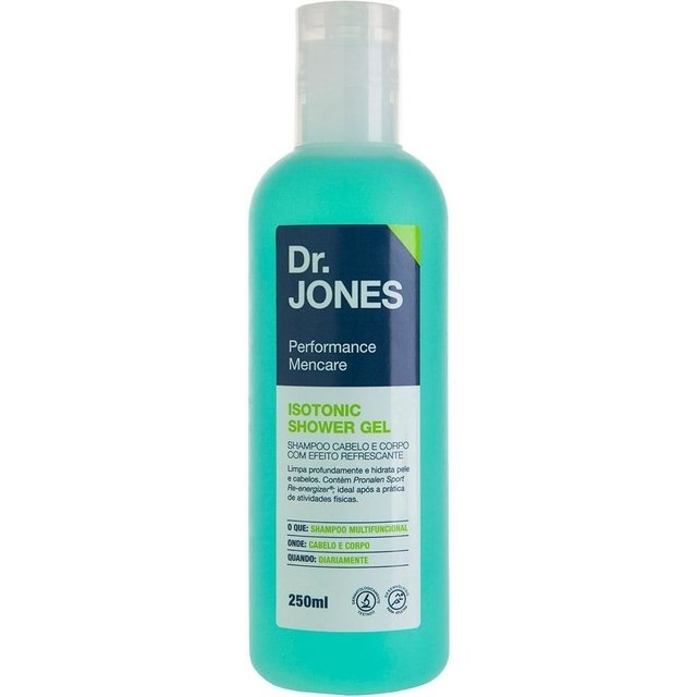 Shampoo Cabelo e Corpo Dr. Jones Isotonic Shower Gel 250ml