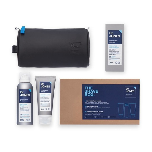Kit para Barbear Dr. Jones The Shave Box na internet