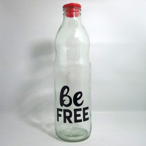 BOTELLA DE VIDRIO BE FREE