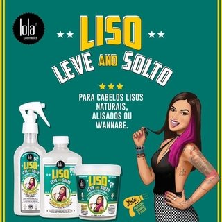 Kit Liso, Leve and Solto - Lola Cosmetics