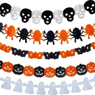 12 Cadenas de Papel China Halloween