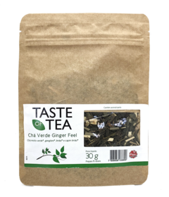 Chá Misto Verde Ginger Feel Bag Com Visor 30GR Taste of Tea