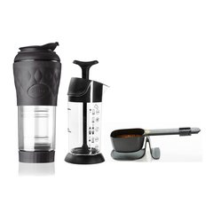 Kit Hario Barista Luxo, Buono 1L, Moedor Canister, Prensa, Kit Hario v60 02 80 Fts 02, Clever 300, Chemex 3 Xic 100 Fts