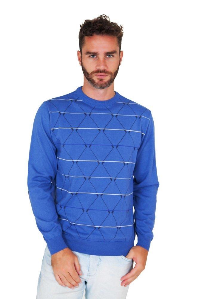 951b9e15c0 Blusa G dom Azul com Cotoveleiras e Geométrica – Loja Good Mood