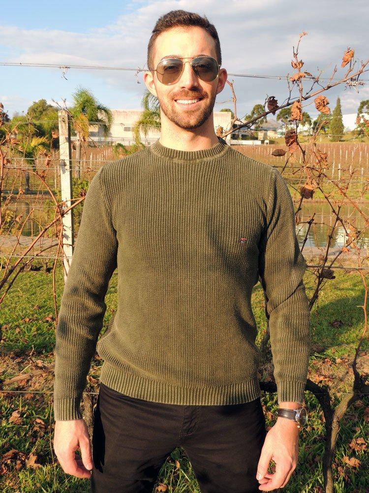 204a9dc6e8 Blusa G dom Textura Verde Musgo – Loja Good Mood