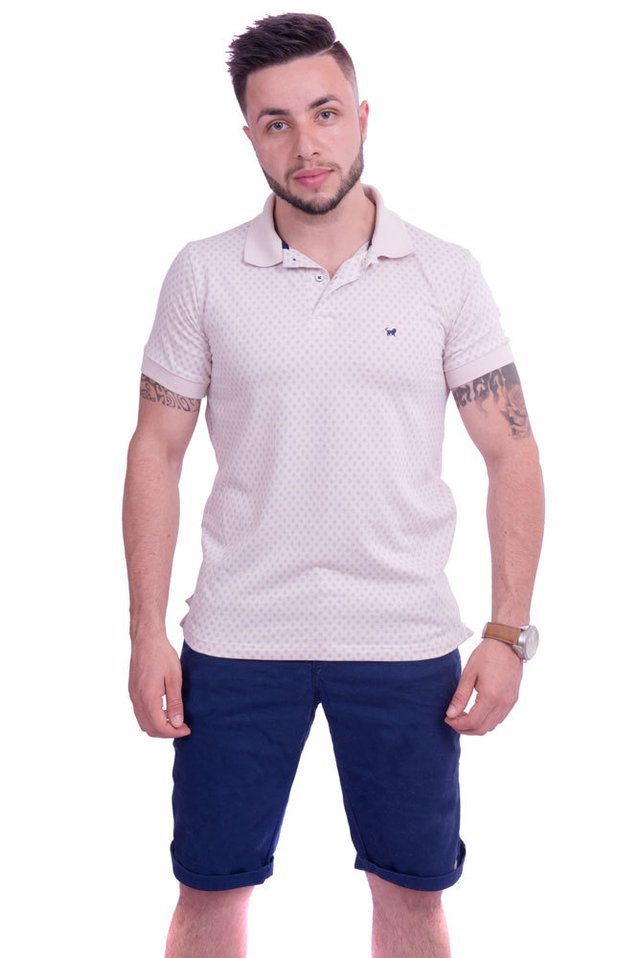 CAMISA POLO LUPIM BEGE