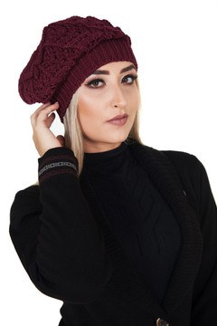 Touca feminina Damer bordo