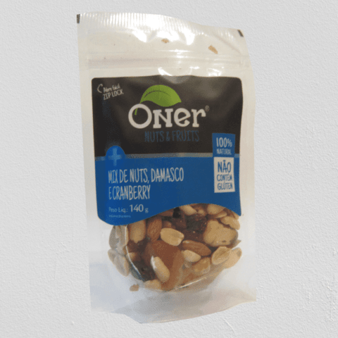 Mix de Nuts e Frutas Secas - Com Cranberry e Damasco (140g)