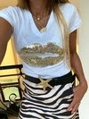 Remera tina gold kiss