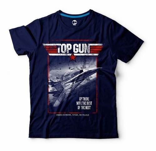 Top Gun | 100% Alg. | Craneo Remeras De Cine