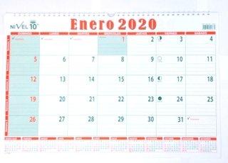 Calendario Snoopy 2020.Planificador Mensual Ano 2020 Nivel 10 37 X 55 Cm
