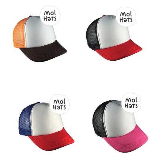 e520d697b6bcd Gorra Trucker 2 Colores + Frente Blanco - Mol Hats