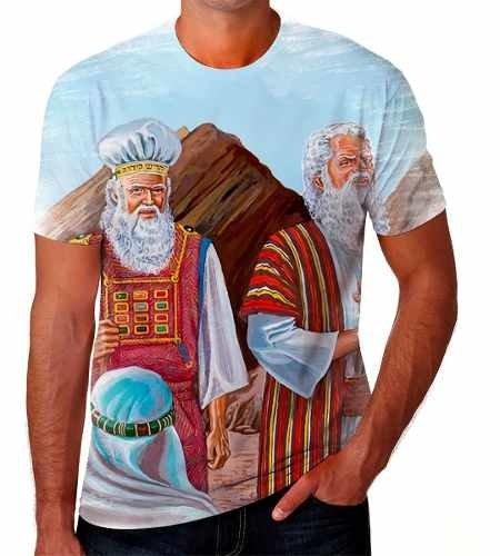 Camiseta Camisa Personalizada Desenho Biblicos Jesus Moises