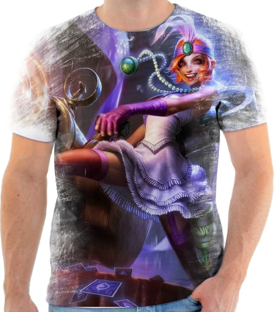 0aab144b0a Camiseta Camisa League of Legends Jinx Mafiosa 40