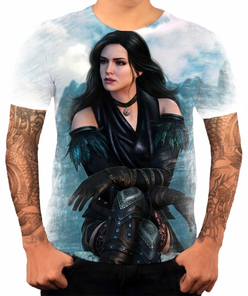 Camisa Camiseta Jogo The Witcher Yennefer 08 87834b1ac83d7