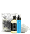 Set hombre body splash 78 + Gel ducha + esponja capullo + bolsa pvc
