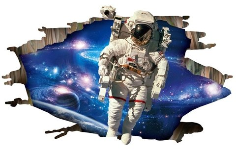 Wall sticker - Astronauta 3D