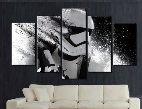 Storm Trooper vanishing (mosaico x5 cuadros)
