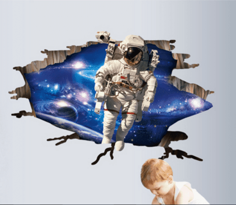 Wall sticker - Astronauta 3D en internet