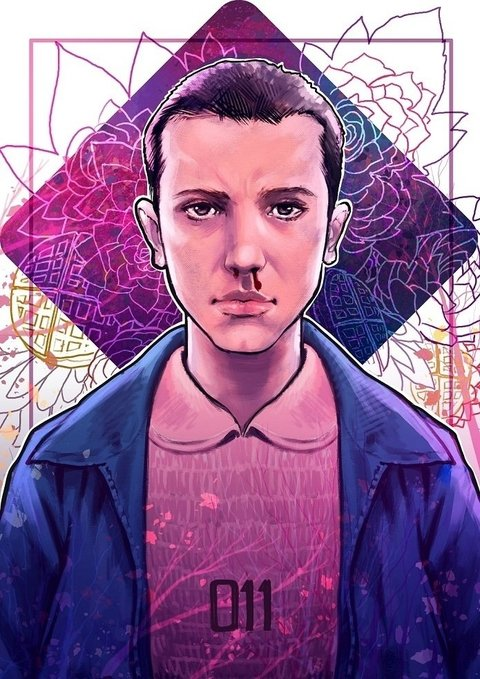 Print A3 - Eleven - Stranger Things - Lucas Werneck