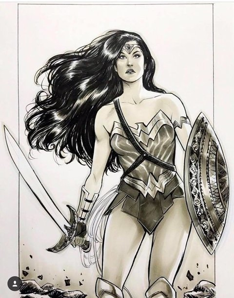 Original Art -  Wonder Woman - Lucas Werneck