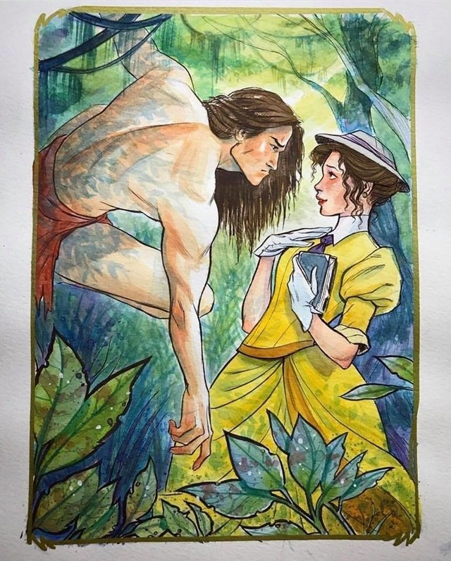 Original Art - Tarzan and Jane - Lucas Werneck - buy online