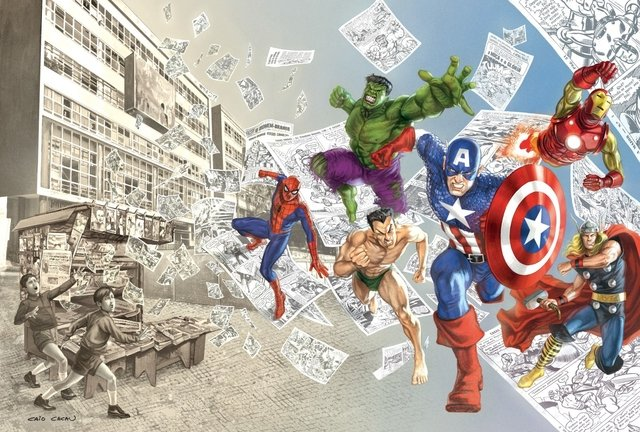 Print A3 - 50 Years Marvel - Caio Cacau - buy online