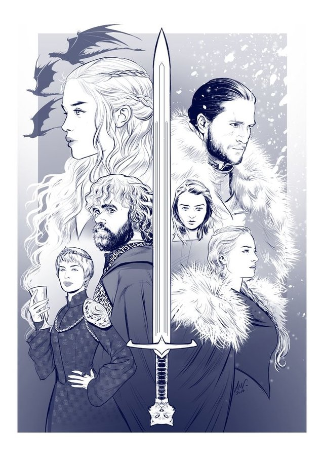 Print A3 - Game Of Thrones - Lucas Werneck - buy online