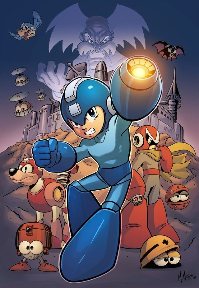 Print A3 - Mega Man - Marcio Menyz on internet