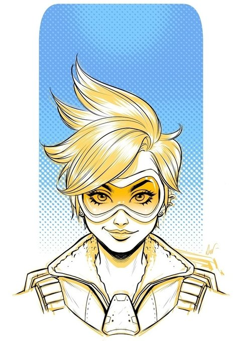 Print A3 - Tracer (Overwatch) - Lucas Werneck