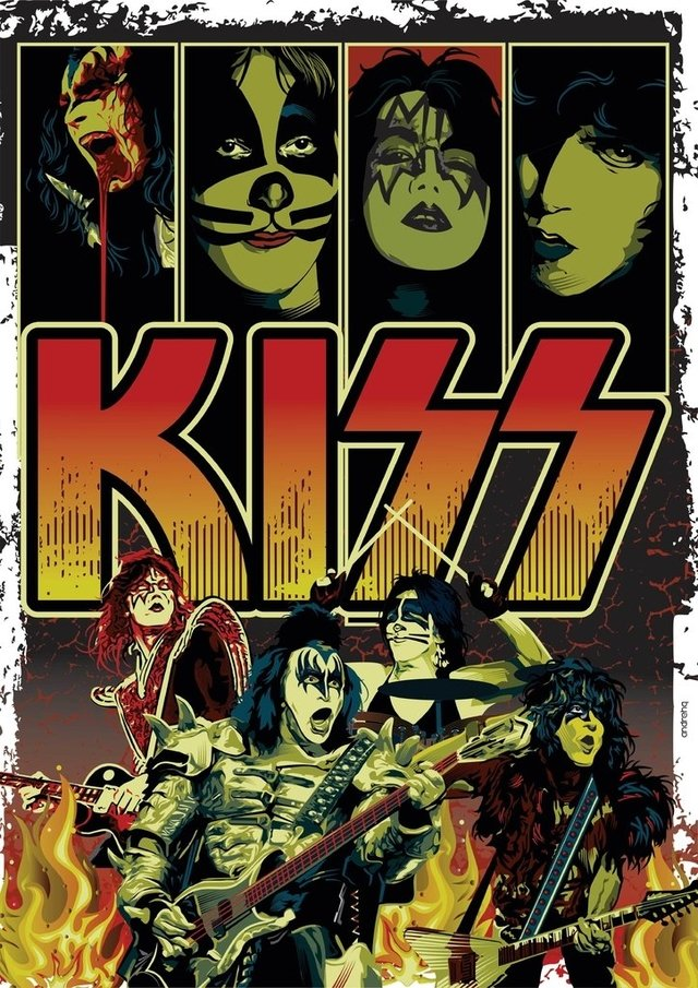 Print A3 - Kiss - Andre HQ - buy online