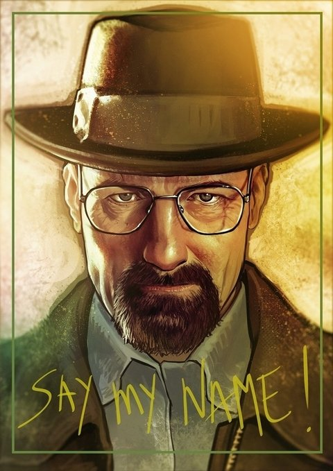 Print A3 - Walter White - Breaking Bad - Lucas Werneck