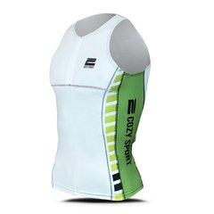Top Triatlon Cozy Sport - Blanco-Verde en internet