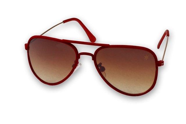 6a1ff5bd47b99 Óculos De Sol Hashtag H219sr Camurça Vermelho