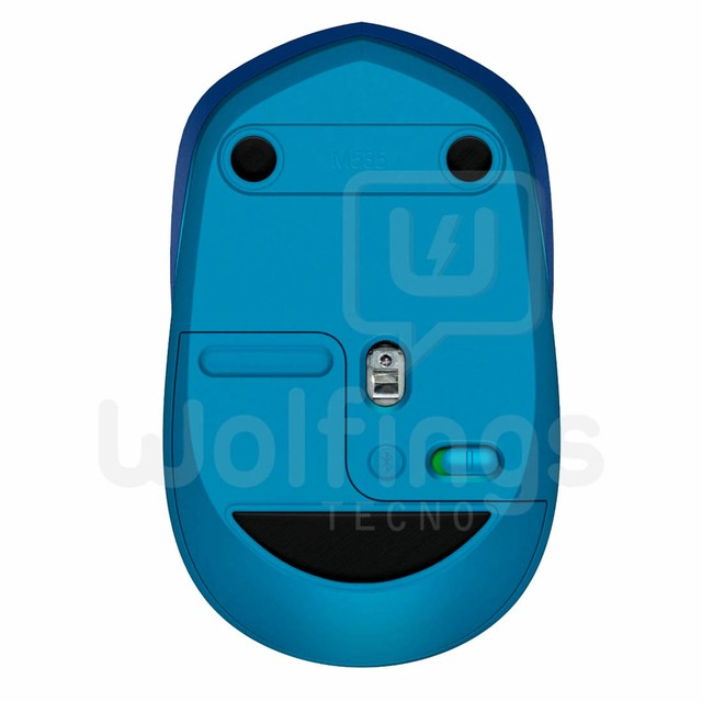 Mouse Bluetooth Logitech M535 Azul Inalambrico Windows Mac [MOU-007] - Wolfings