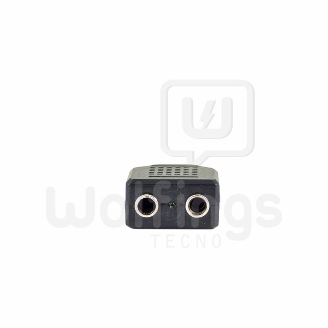 FICHA ADAPTADOR PLUG 3.5MM MACHO A 2 JACK 3.5MM HEMBRA. [Cod. CON-007] en internet