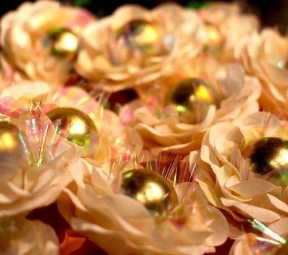 Fabric Flower Wrappers for Wedding Sweets Cristina (30 pieces)