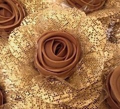 Fabric Flower Wrappers for Wedding Sweets Camellia (30 pieces)