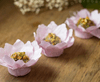 fabric-flower-wrappers-for-wedding-candies-pink-sunflower
