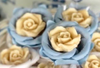 Fabric Flower Wrappers for Sweets Rounded Camellia (30 pieces) - buy online