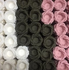 Fabric Flower Wrappers for Wedding Sweets Helena (100 pieces) - Celebrity Forminhas de Doces Para Casamento
