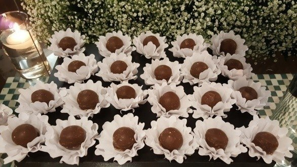Fabric Flower for Wedding Sweets Nádia (30 pieces) - online store