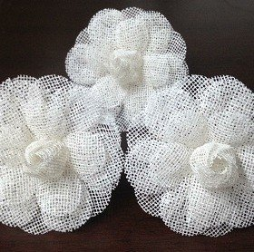 Napkin Holder for Weddings Flower in Ecomesh (10 pieces)