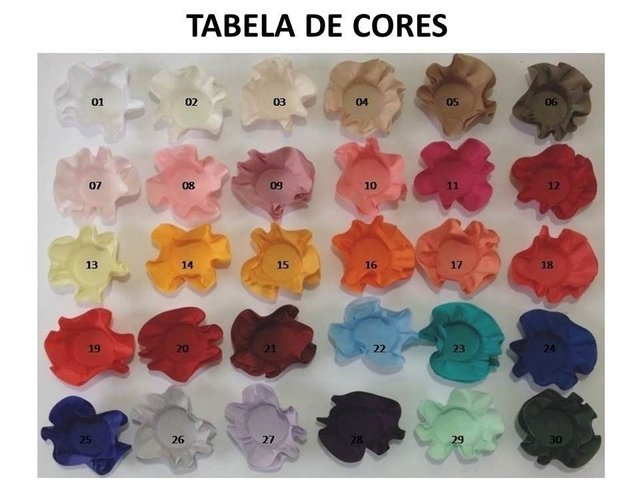 Fabric Flower for Wedding Decoration Model C (30 pieces) - buy online