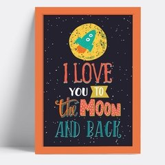 Quadro I love you to the moon