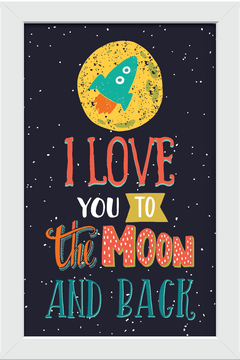 Quadro I love you to the moon - Arteira Design