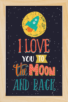 Quadro I love you to the moon - loja online