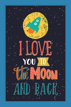 Quadro I love you to the moon - comprar online